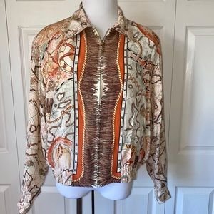 August Silk Rare Unique Voyager Rope Print Bomber